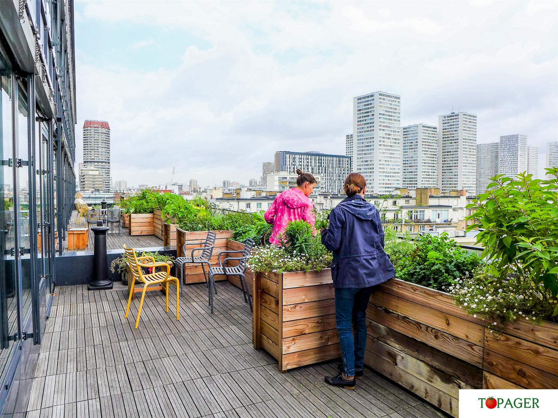 Topager animation d un jardin partagé pour les bureaux de la rivp